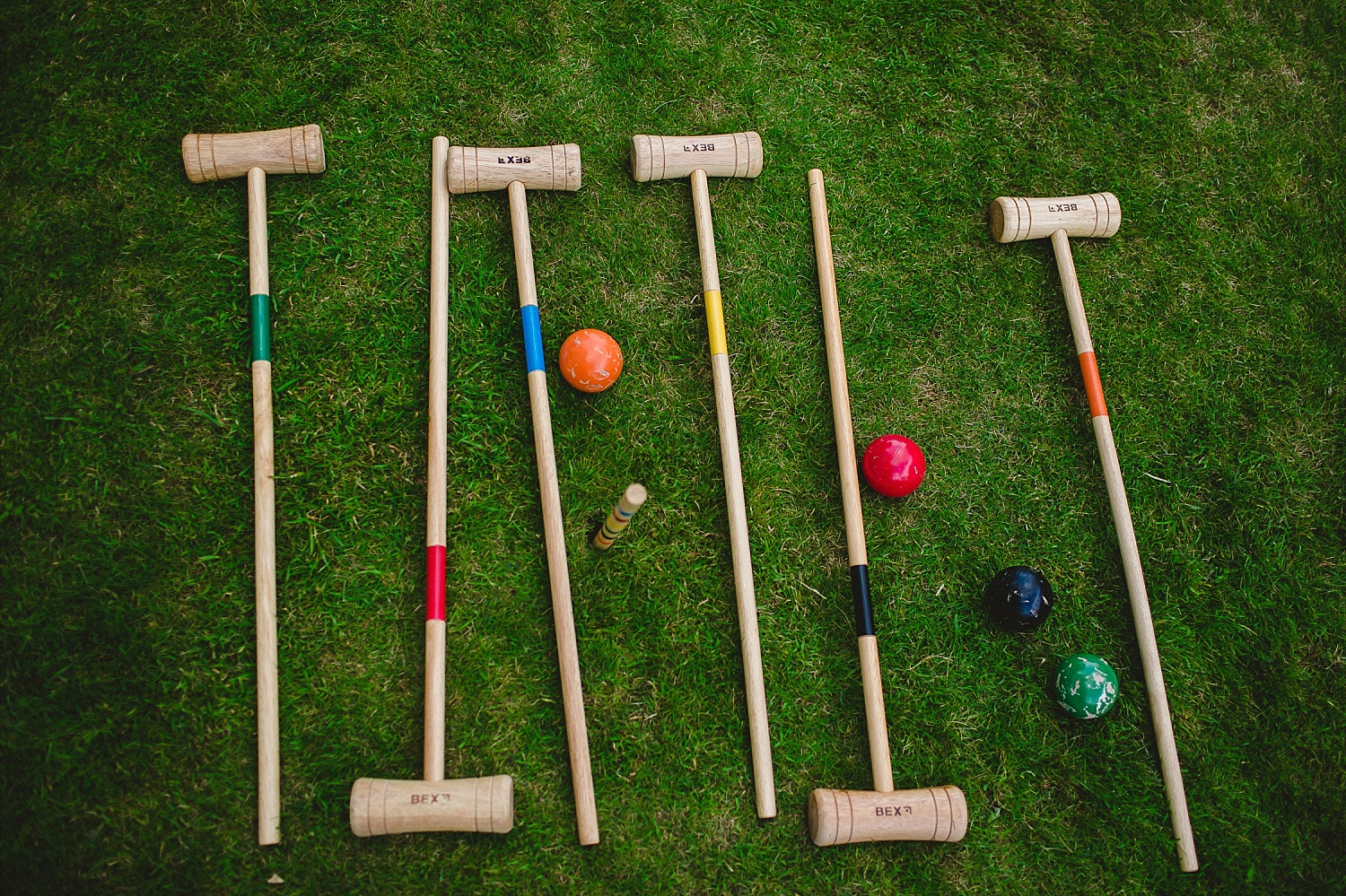 Gosfield Hall Wedding Photographer - Croquet Set