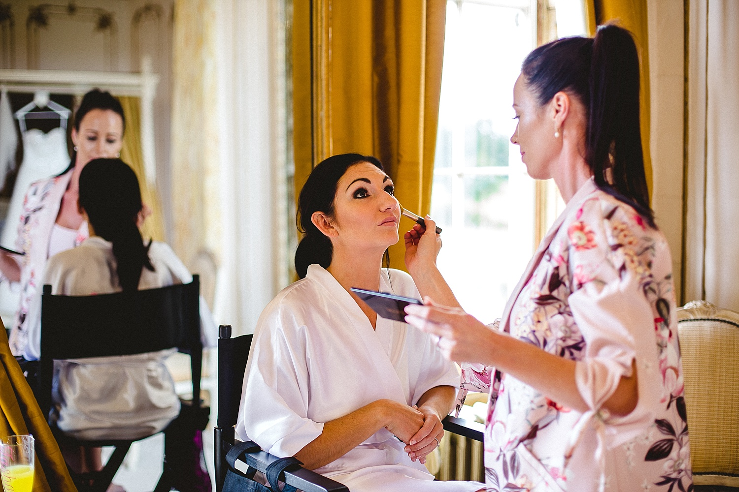 Gosfield Hall Wedding Bridal Preparations