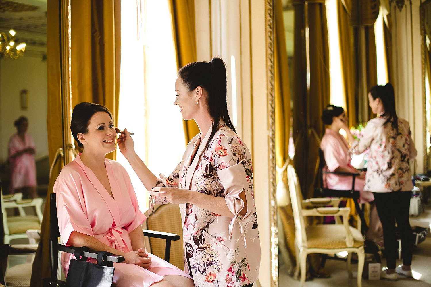 Gosfield Hall Wedding - Bridesmaid during Bridal Prep