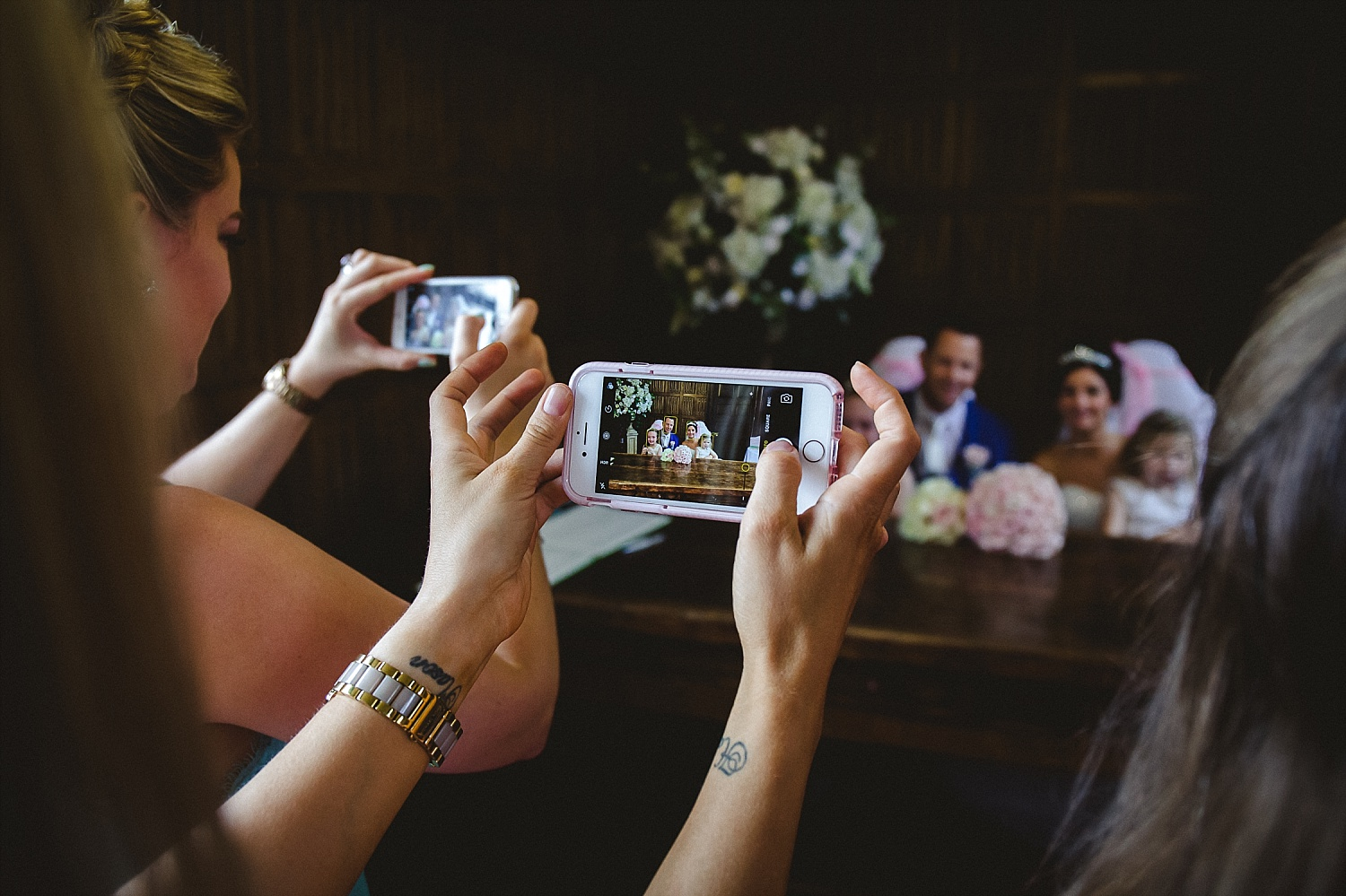 Gosfield Hall Wedding Photography - Signing the Register