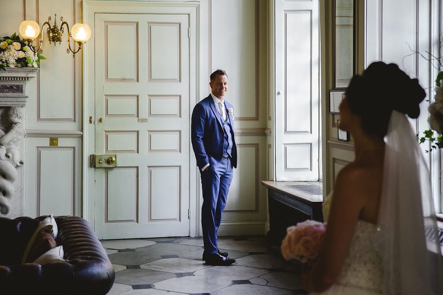 Gosfield Hall Wedding - Groom Portraits in the House