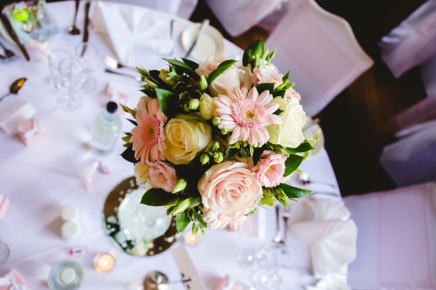 Gosfield Hall Wedding - Reception Room Table Decor