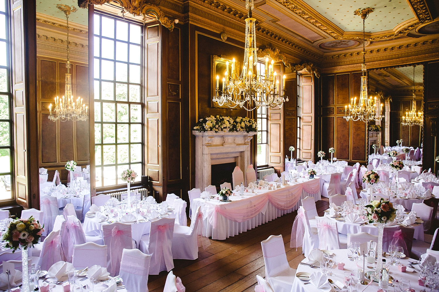 Gosfield Hall Wedding - Reception Room