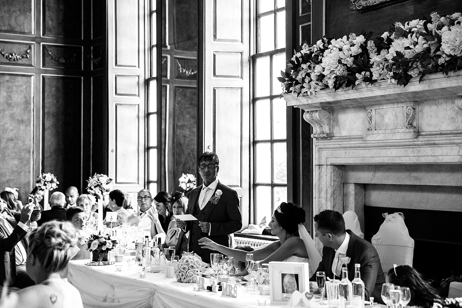 Gosfield Hall Essex Wedding Photography - Father of the Bride's Speech