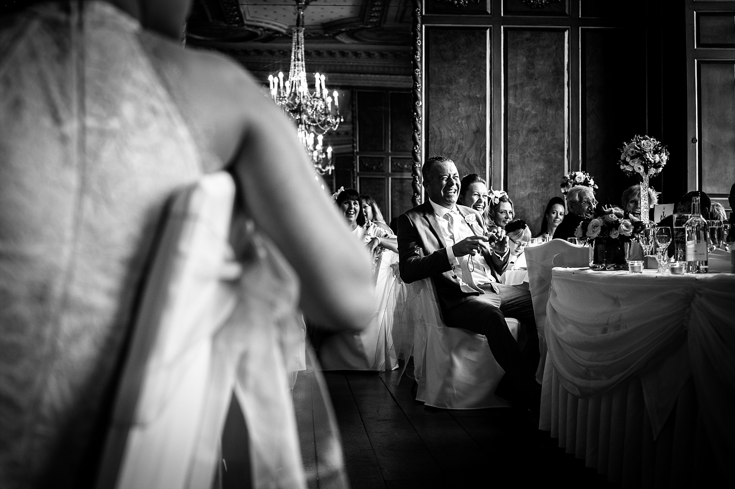 Gosfield Hall Essex Wedding Photography - Groom's Speech