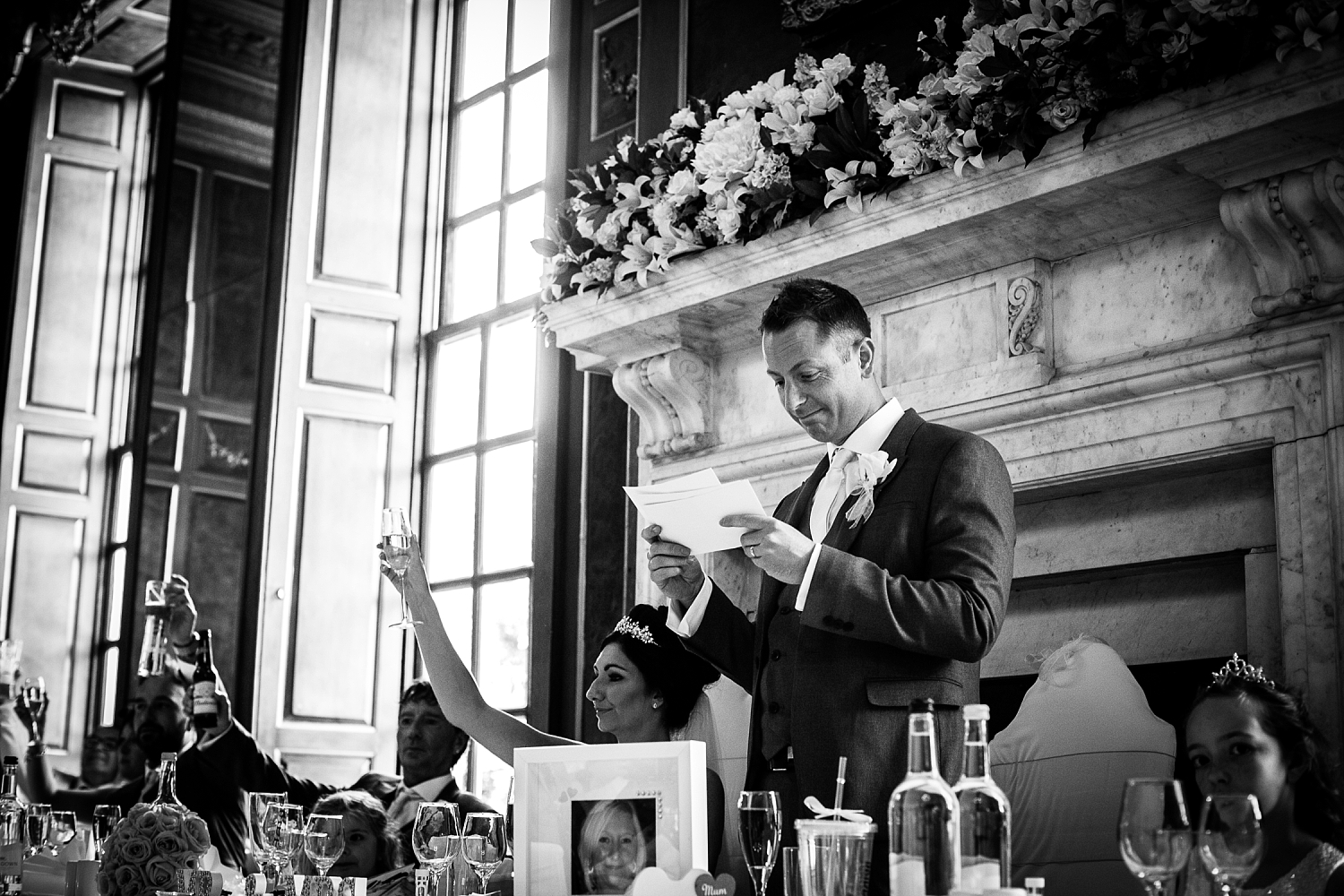Gosfield Hall Wedding Photography - Groom's Speech