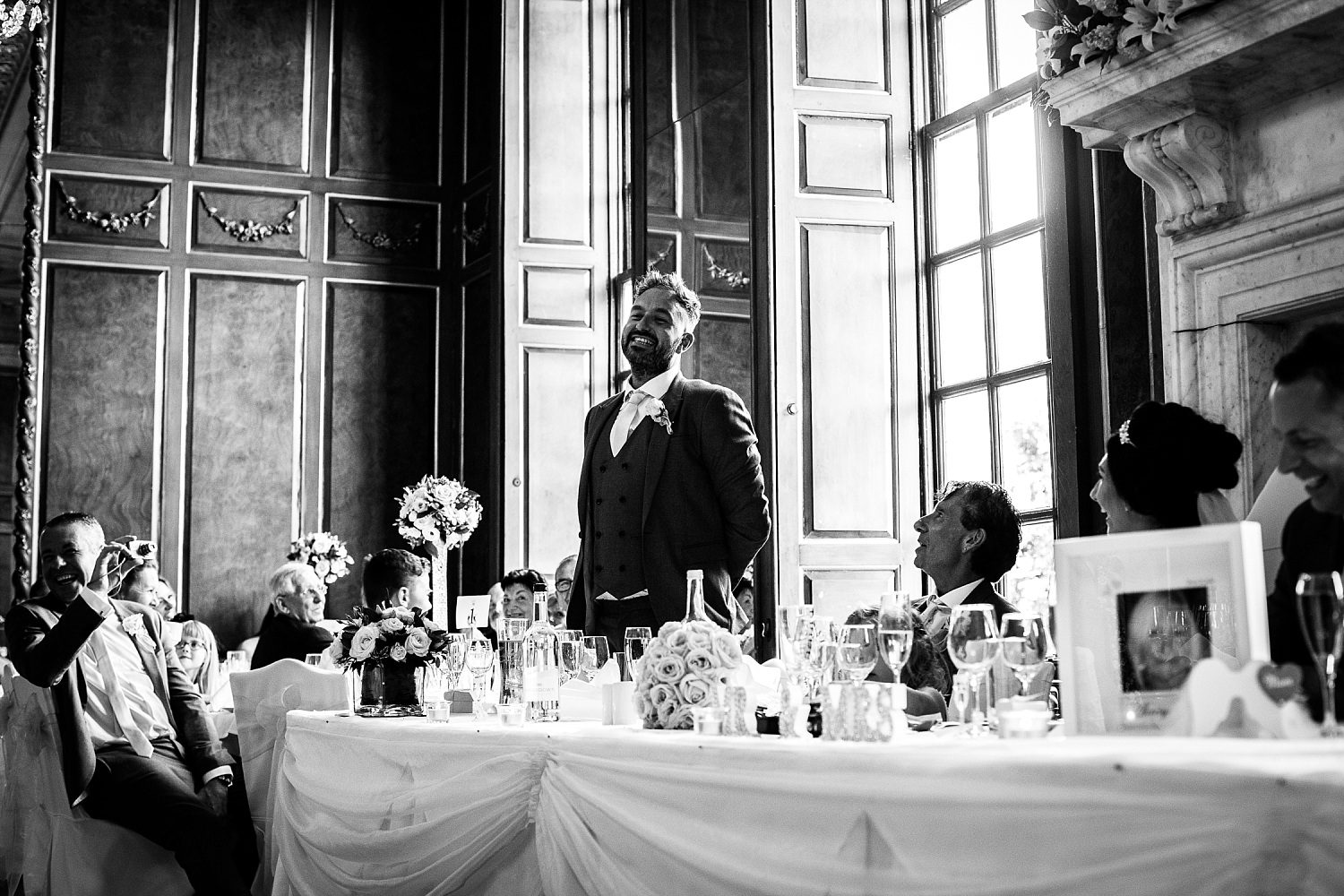 Gosfield Hall Wedding - Essex Wedding Photographer - Speeches