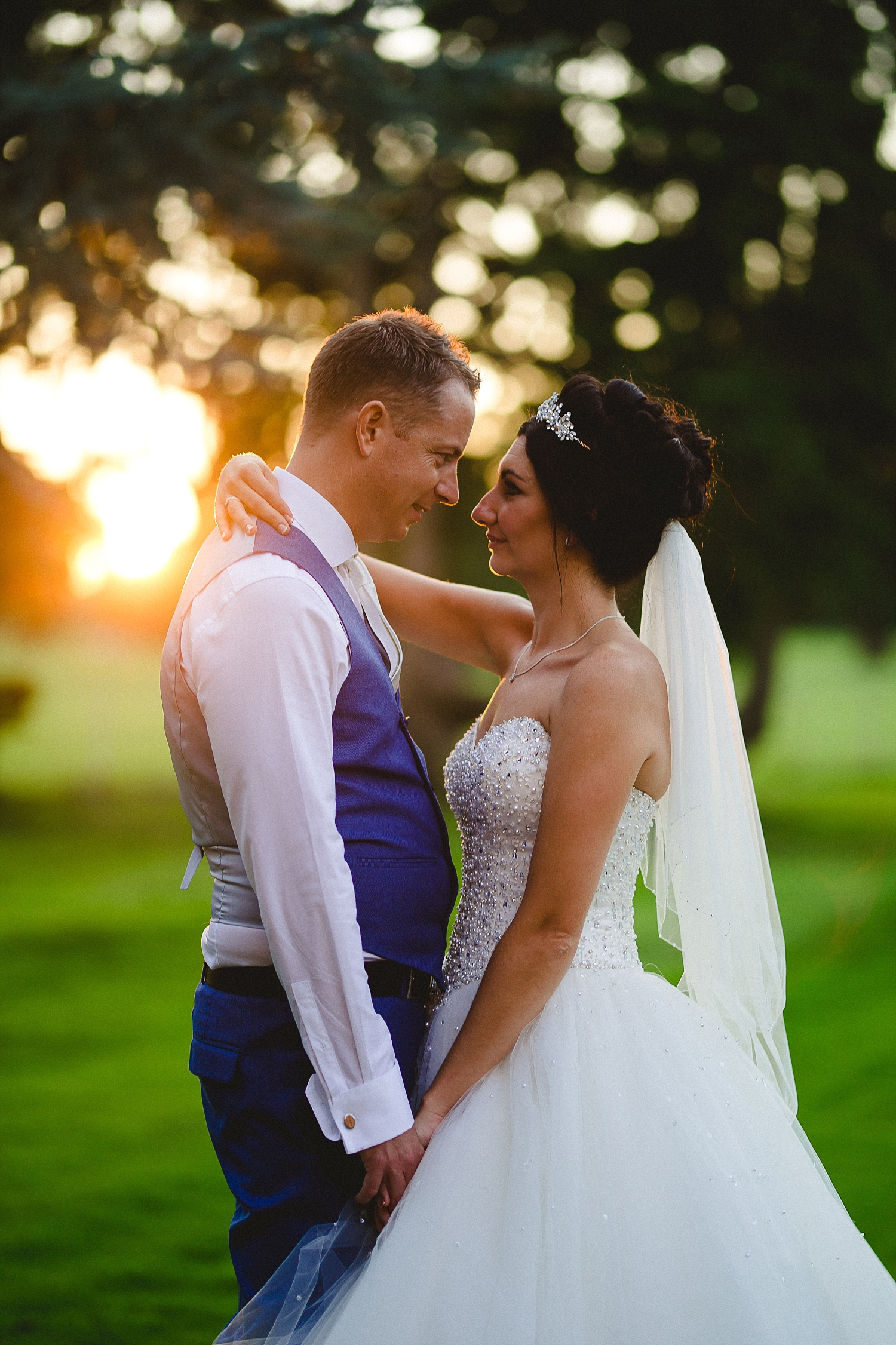 Gosfield Hall Essex Wedding - Portraits at Sunset