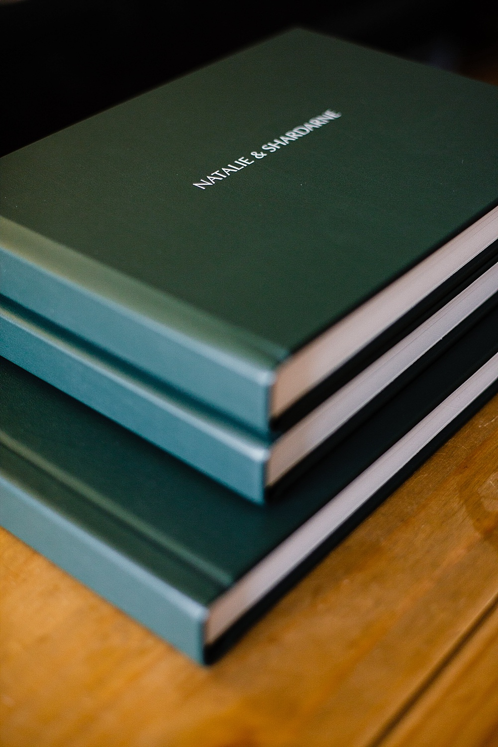 Parent albums with green leather cover