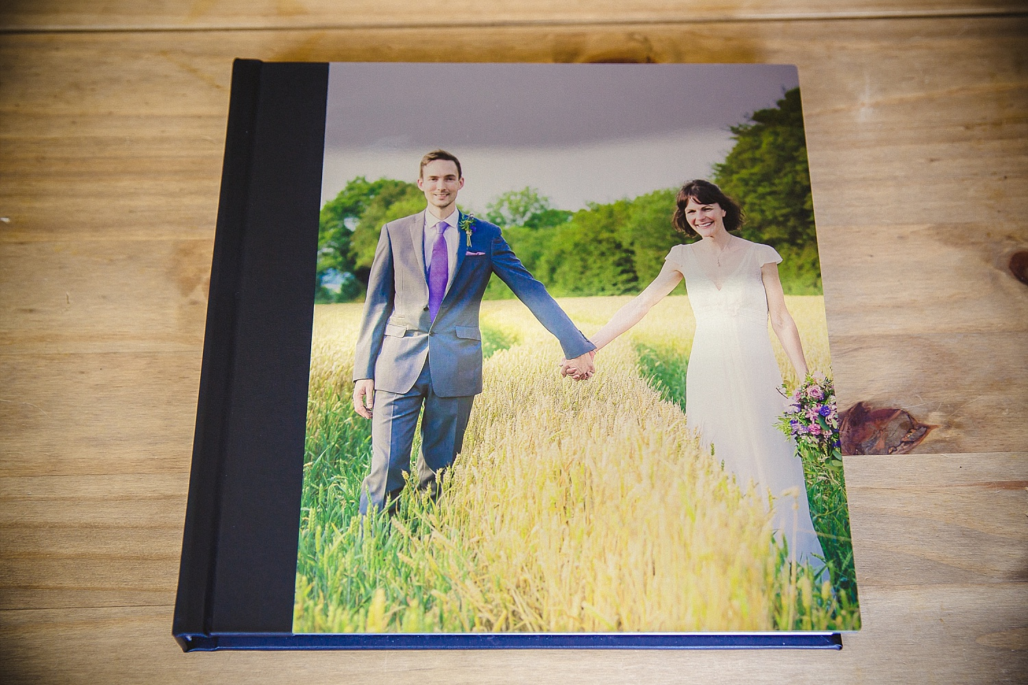 Wedding album with metallic cover