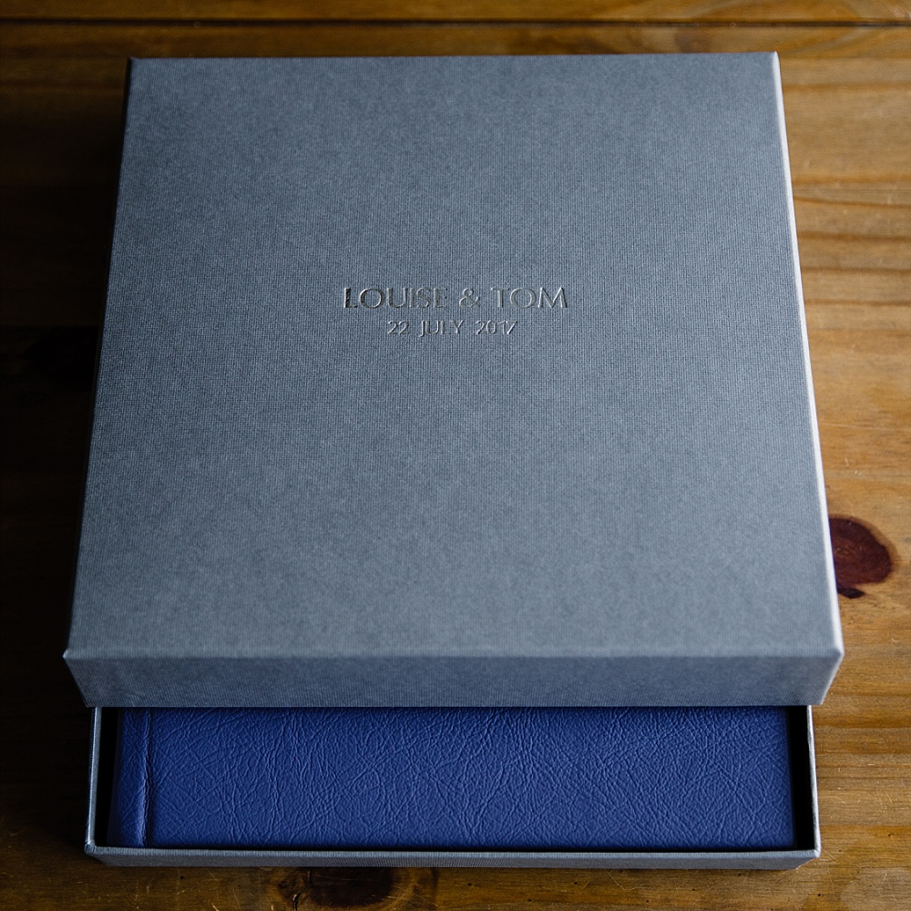 Wedding Album in Grey Box