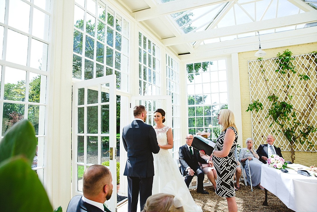 Langtons House Essex Wedding Photographer - Ceremony in the Orangery