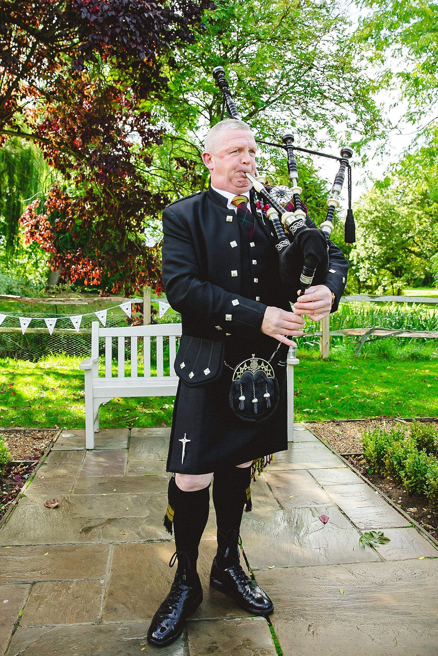 Houchins Wedding Photographer - Scottish Bag Piper