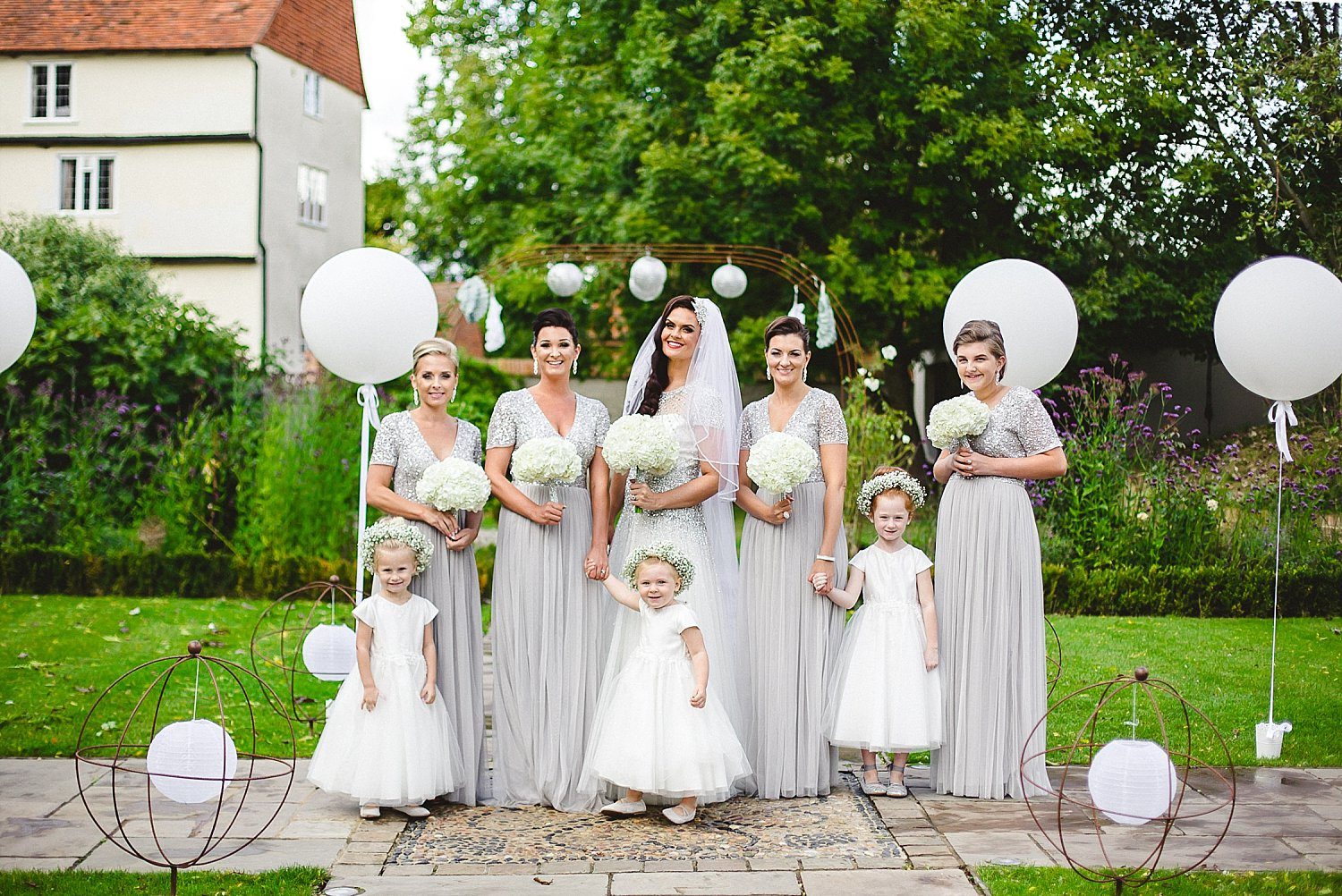 Houchins Wedding Photographer - Bridal Party in the Gardens