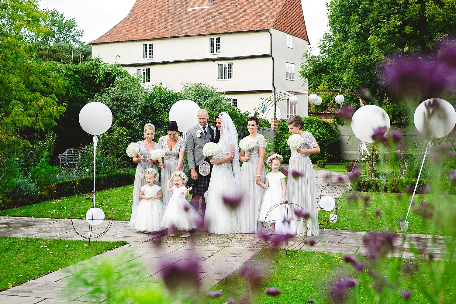 Houchins Essex Wedding - Bridal Party Shot