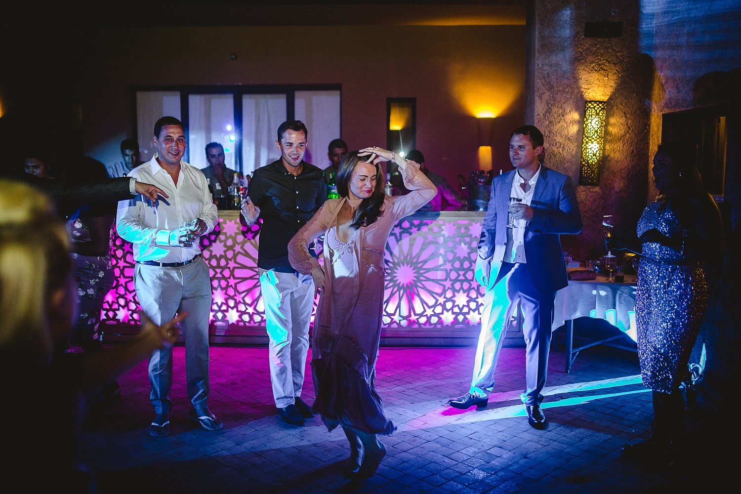 Morocco Wedding Photographer Fun Guests Dancing
