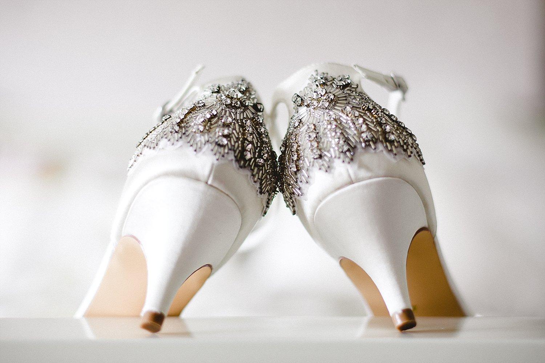 Wedding Photographer Essex - Moor Hall Wedding - Bridal shoes