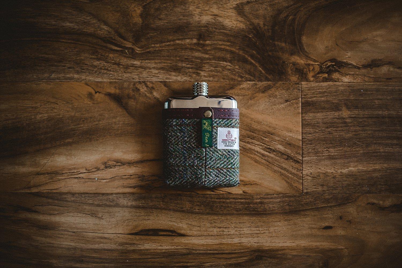 Moor Hall Wedding - Anesta Broad Photography - Groom's Hipflask
