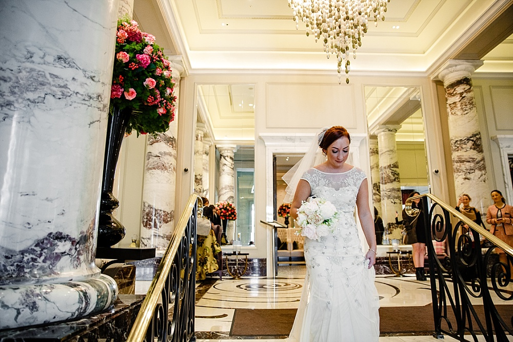 The Langham Hotel London Wedding - Bride leaving