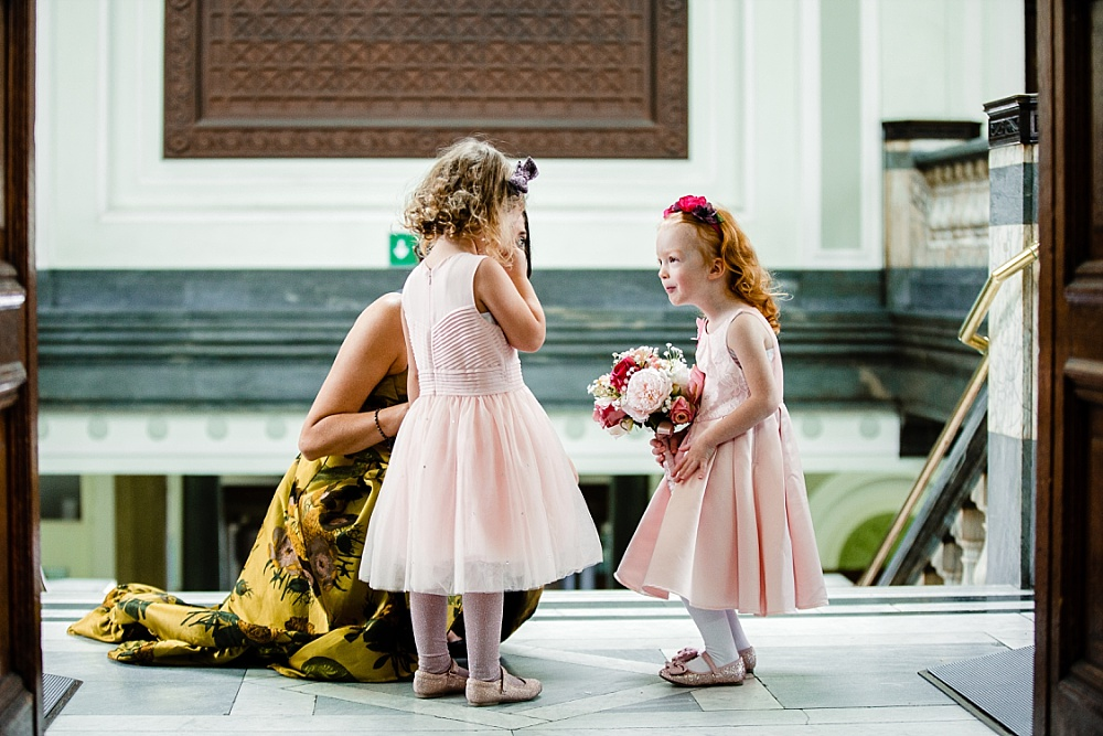Islington Town Hall Wedding Photographer - Flower girls