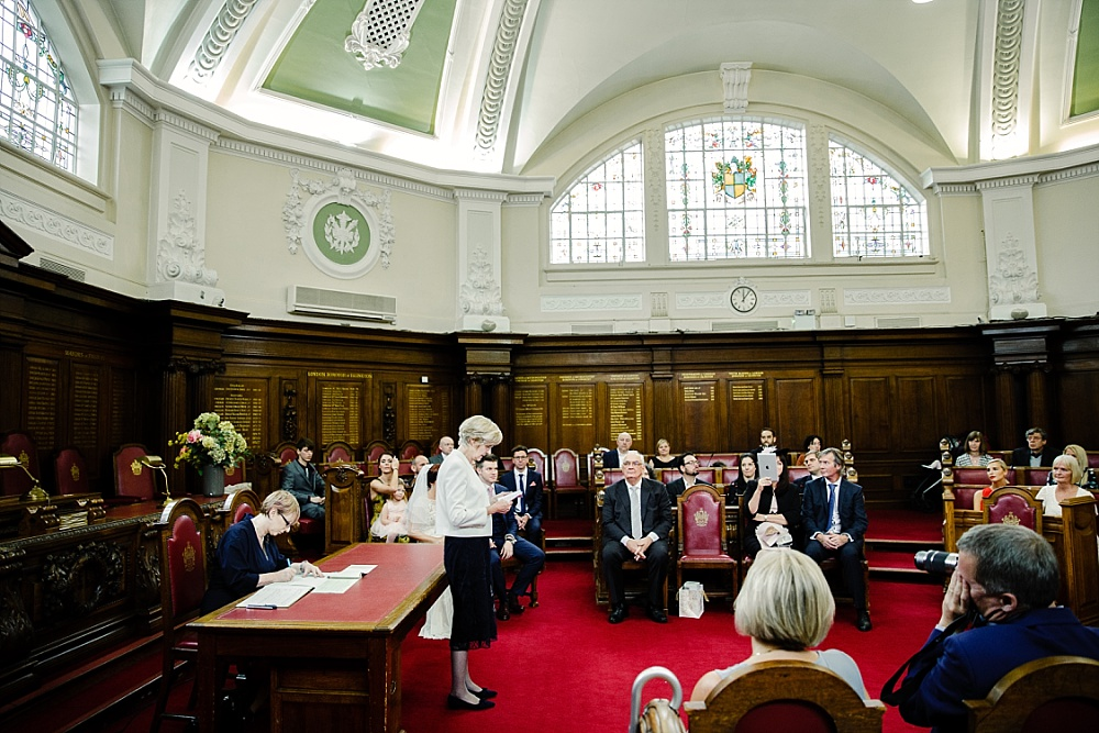 Islington Town Hall Wedding Photographer - Wedding Ceremony Reading