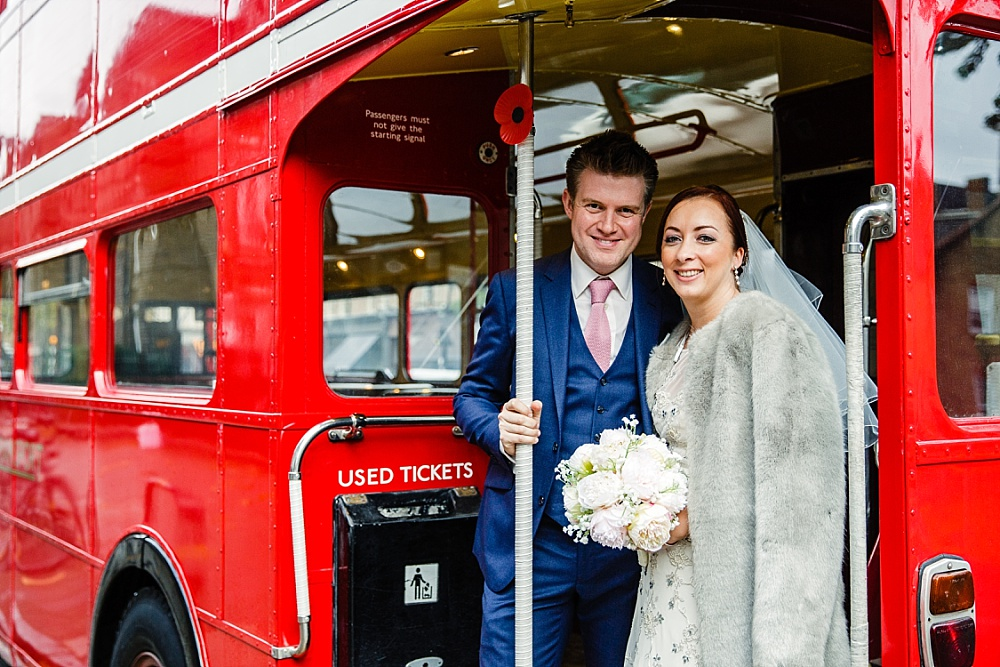 Islington Town Hall Wedding - London Red Wedding Bus