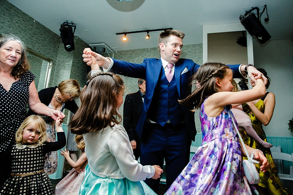 The Chapel London Wedding - Islington Town Hall Wedding Photographer - Groom on the Dancefloor