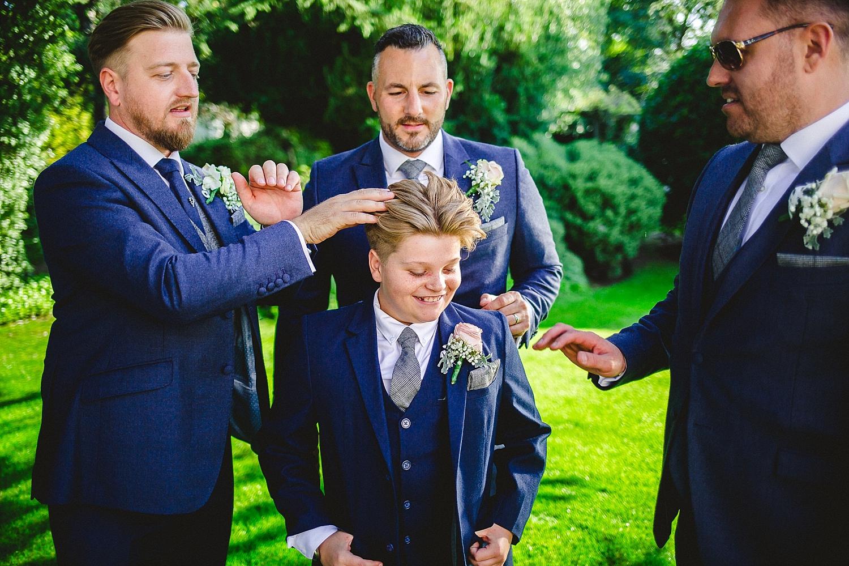 Moor Hall Wedding Photographer - Groom's Party