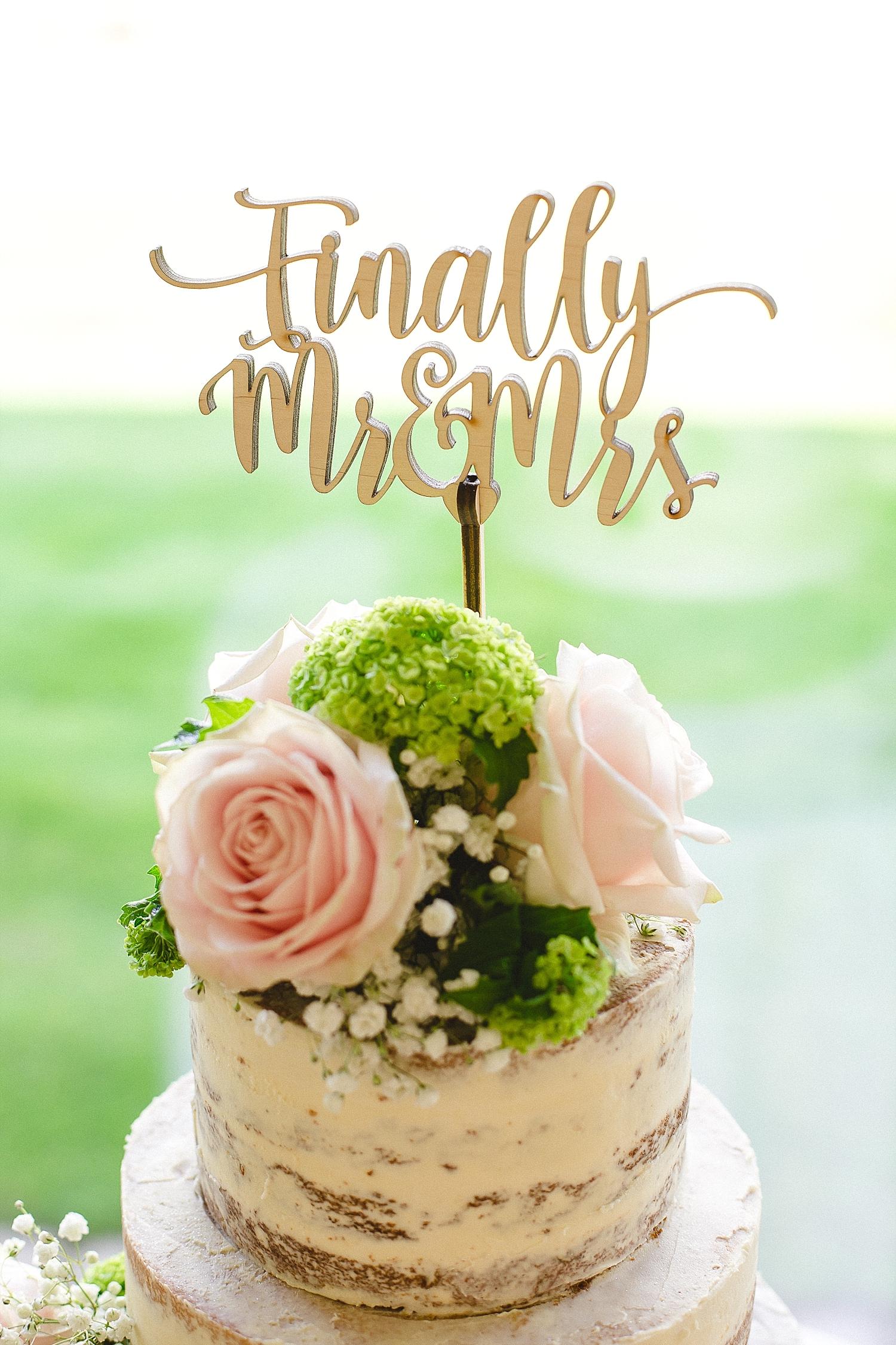 Moor Hall Wedding Photographer - Wedding Cake - Finally Mr & Mrs