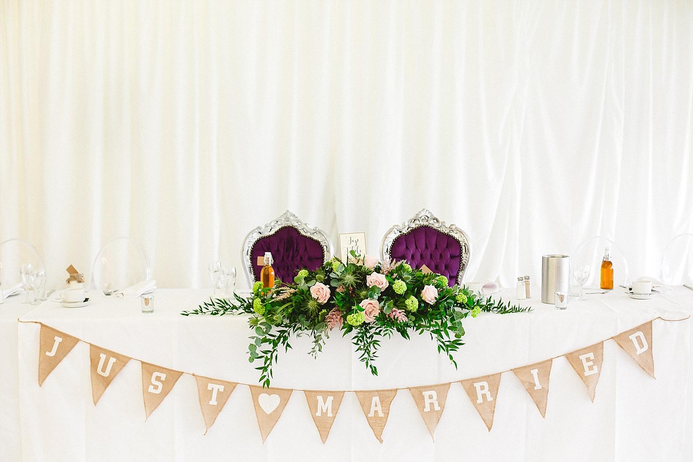 Moor Hall Wedding Venue - Reception Top Table