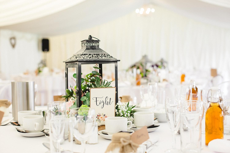 Moor Hall Wedding Venue - Table Details