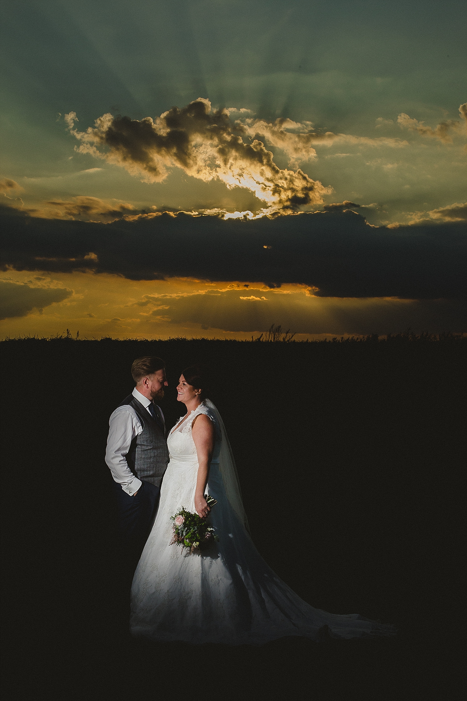 Moor Hall Wedding Photographer - Portraits at Sunset