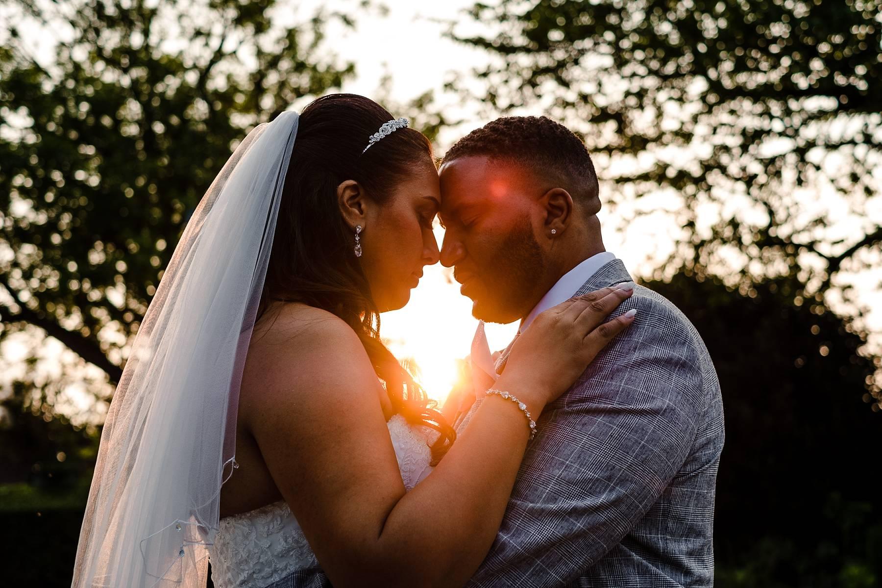 Parklands Quendon Hall Wedding at Sunset