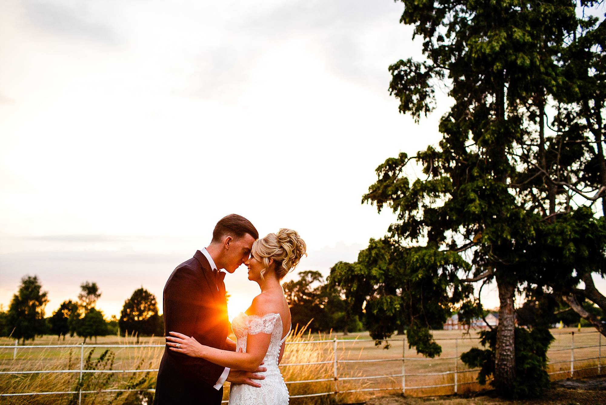 Gosfield Hall Wedding Photographer - Sunset