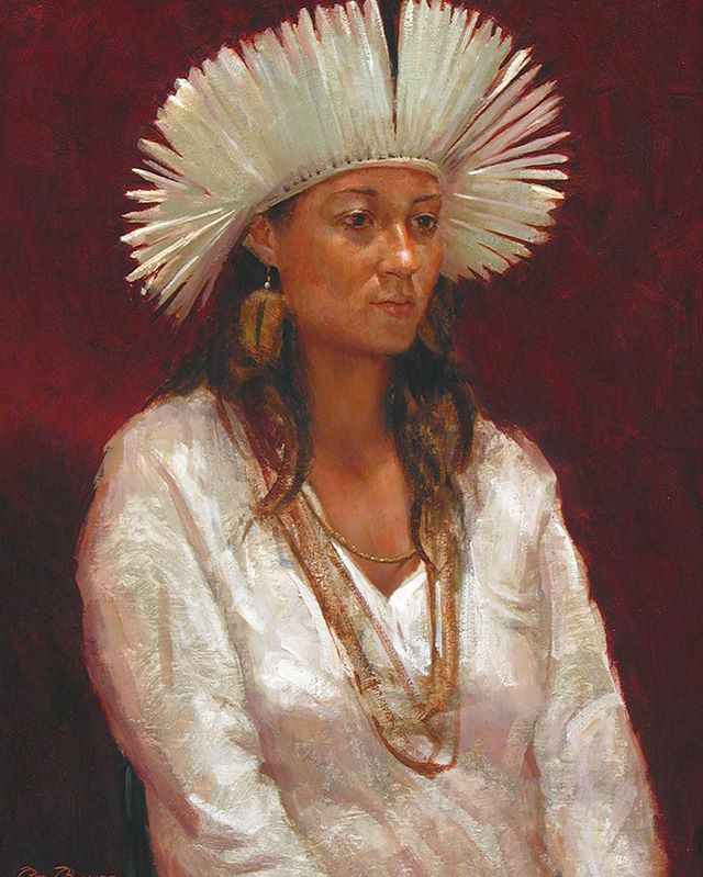 #Brazilian #Headdress  #painting #art #oilpainting #fineart