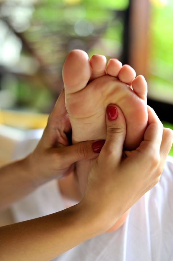 Reflexology is a relaxing holistic ancient Chinese non invasive  technique that stimulates pressure points of the feet known as reflex zones that correspond with different areas within the body.   By working the reflexes of the feet it can help stimulate energy pathways, nerve endings and organs in the body to help promote better health, helping your body to heal itself.