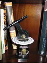"J.A. Millar Co. Inc. patented this ornamental ""Observoscope"" star calculator in 1945."