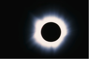 Example of a total solar eclipse