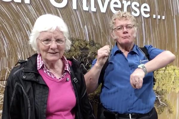 Graham and Margaret Duhig of the British Deaf Astronomical Association