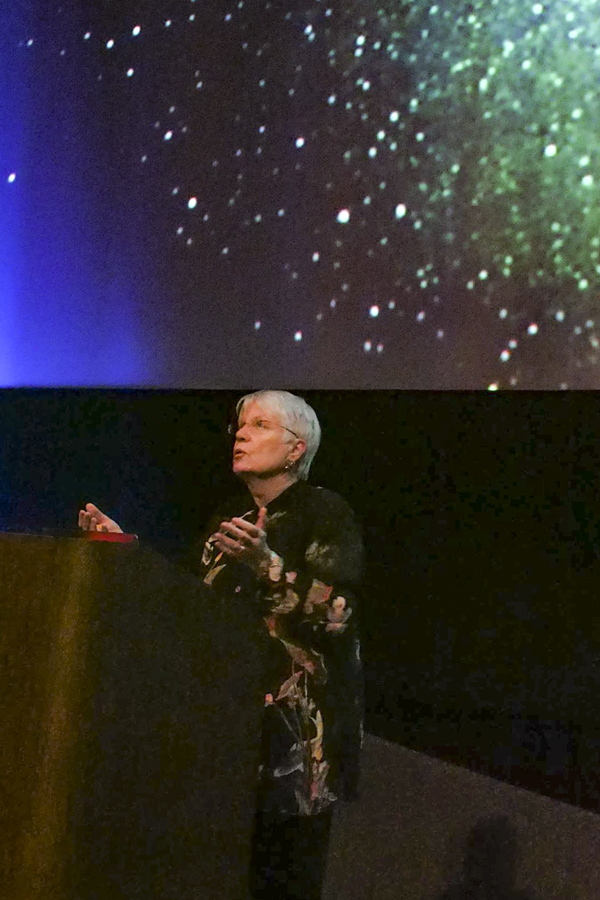 The SETI Institute's Jill Tarter spoke recently at the Rose City Astronomers in Portland, Oregon. (Photo: Kathy Kerner)