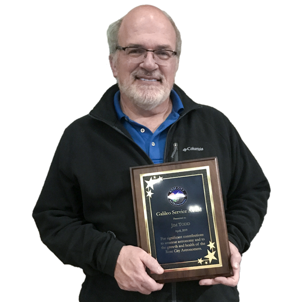 Jim Todd, OMSI Director of Space Science Education receives Galileo Award.