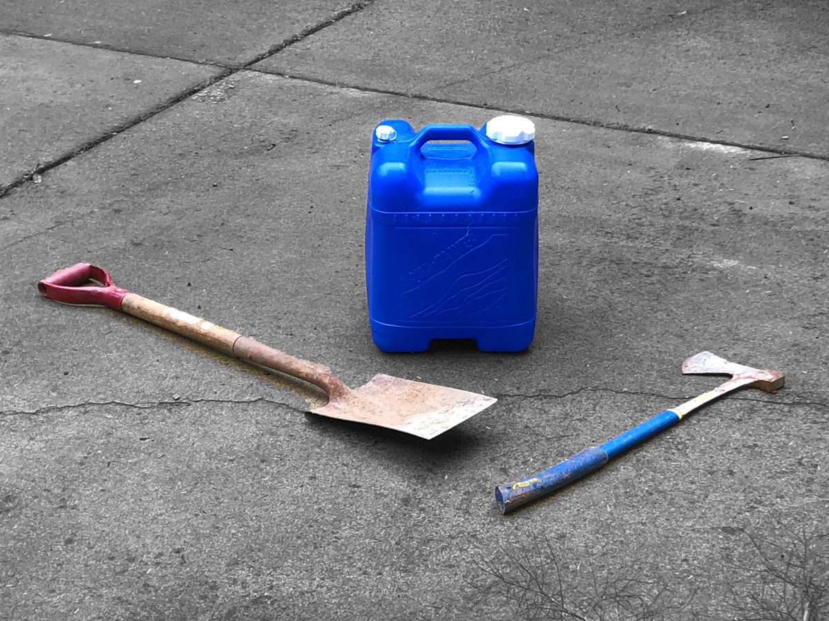 Juniper Flats Fire Department is now requiring five gallons of water, a shovel, and an ax.