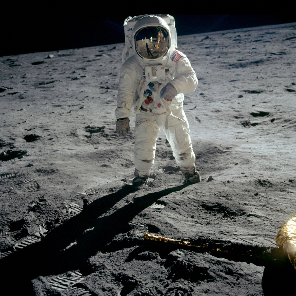 Armstrong on the moon. Courtesy of Statement Pictures for CNN Films/MacGillivray Freeman Films.