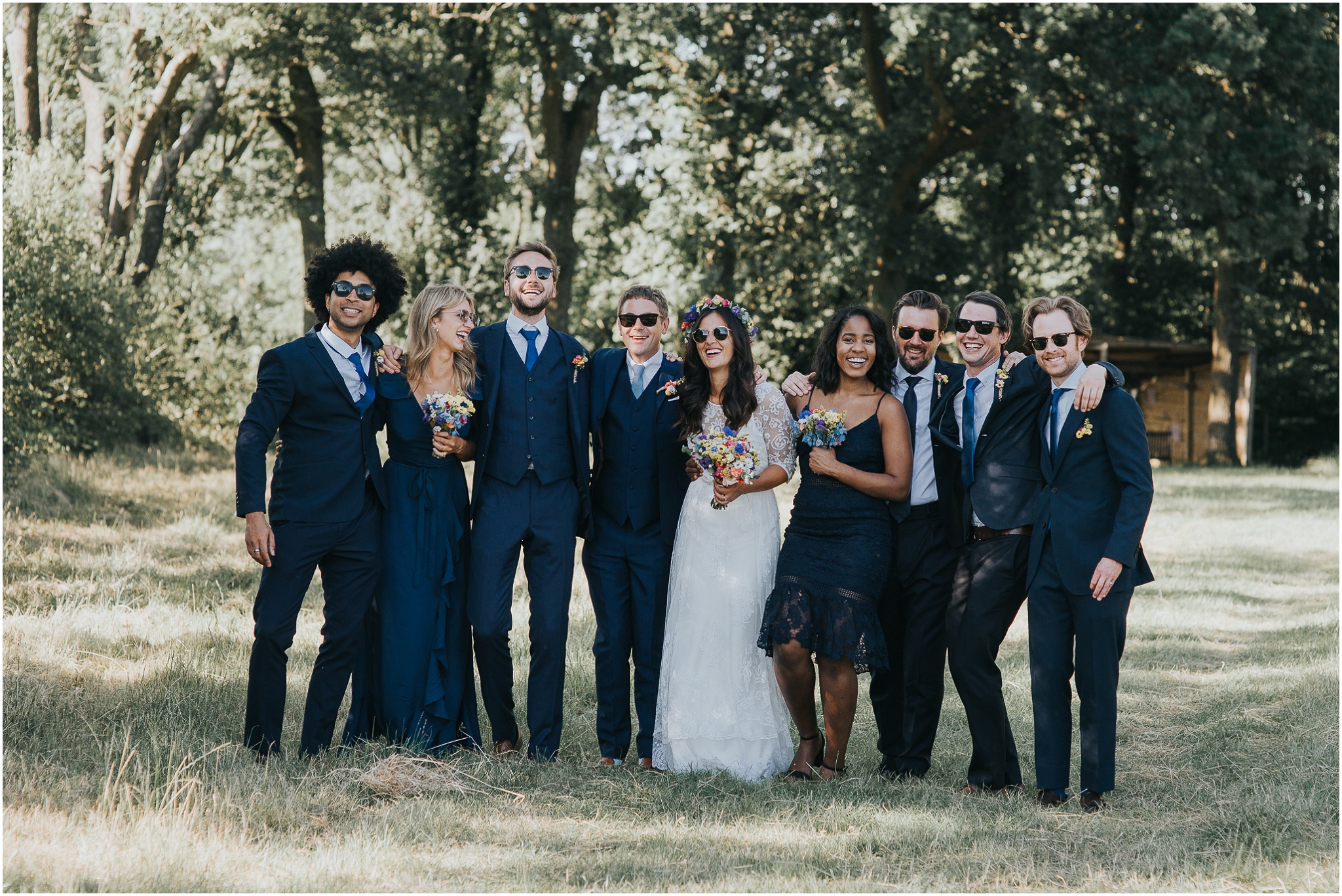 cool bridal party