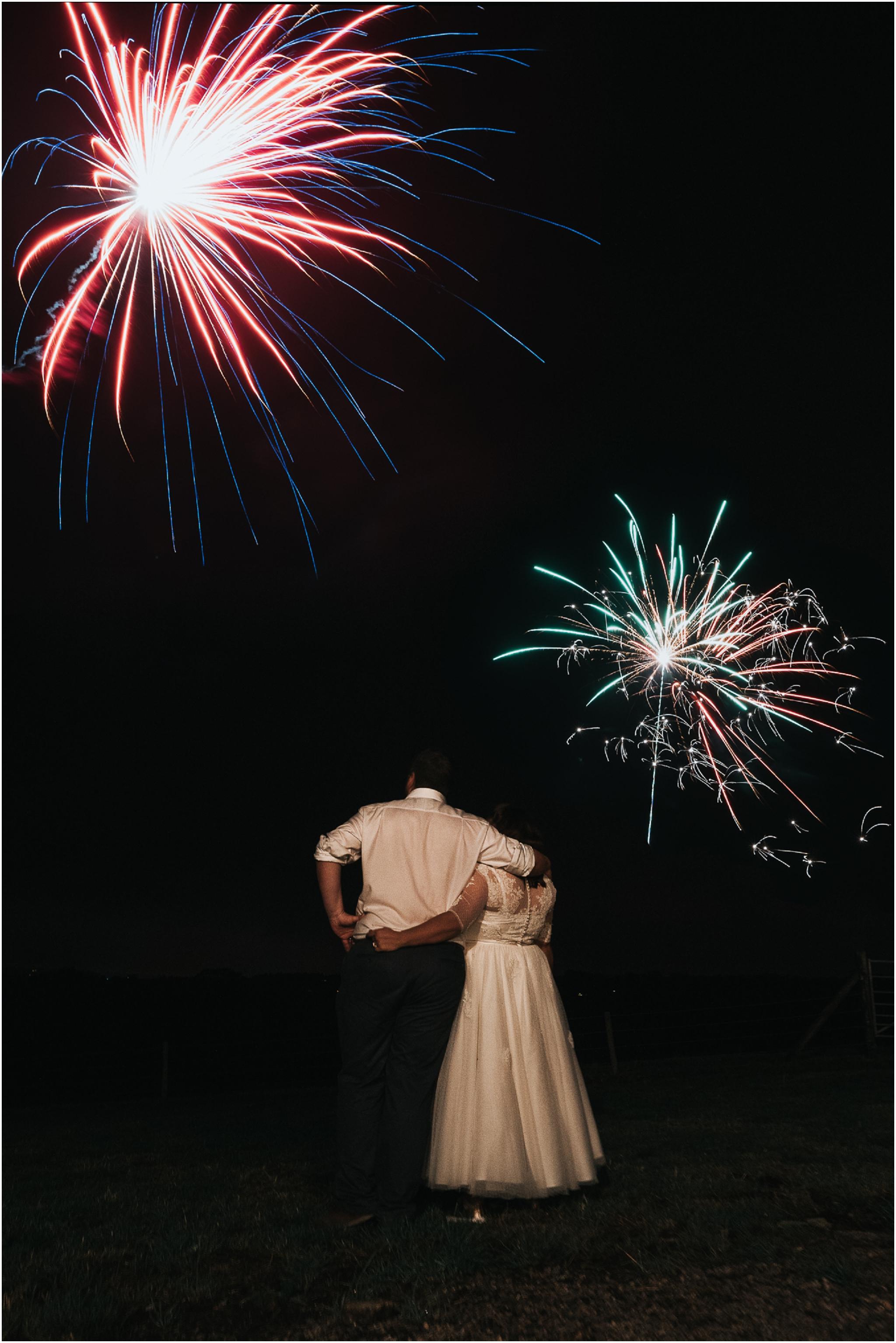 fireworks wedding photo