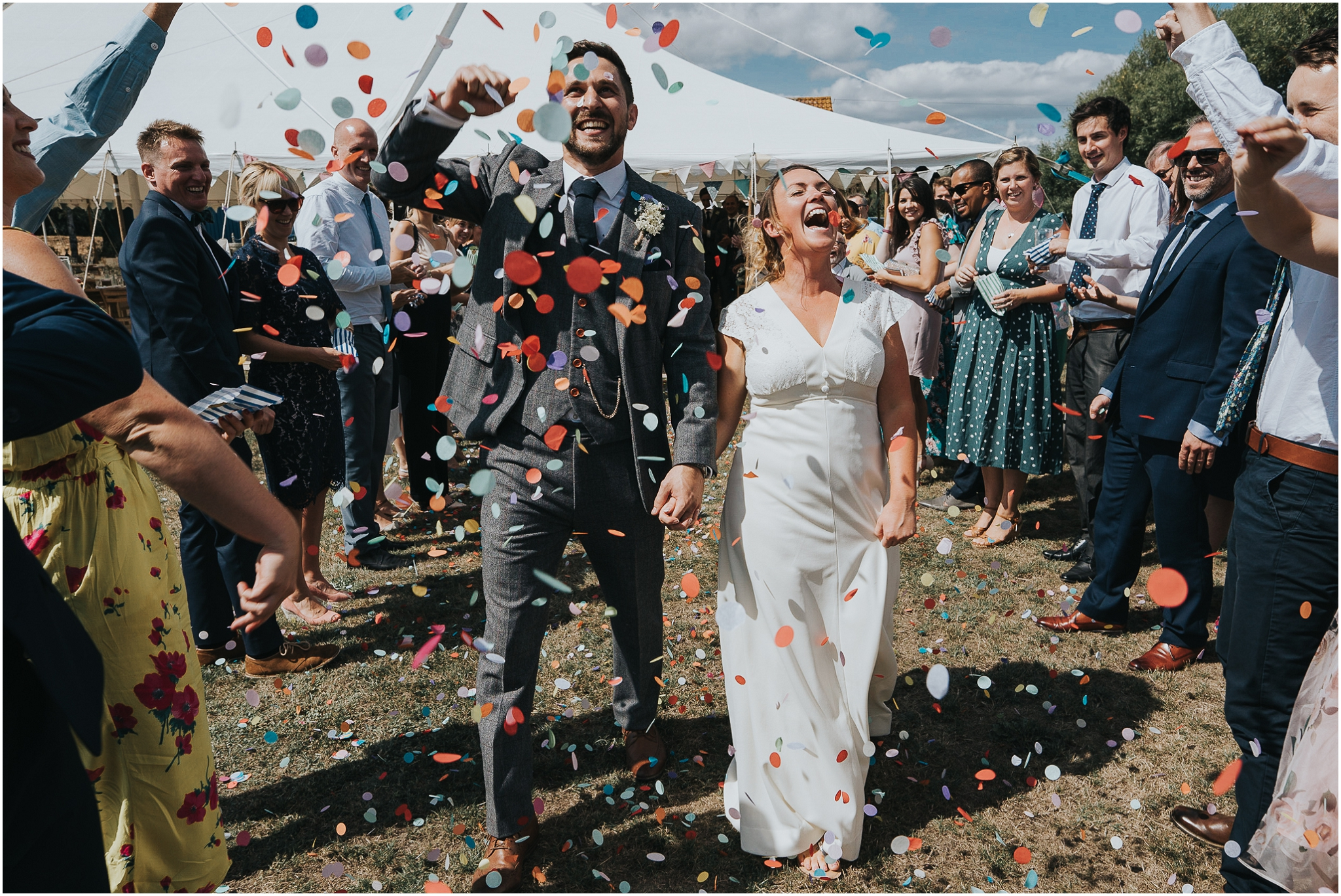 colourful confetti shot