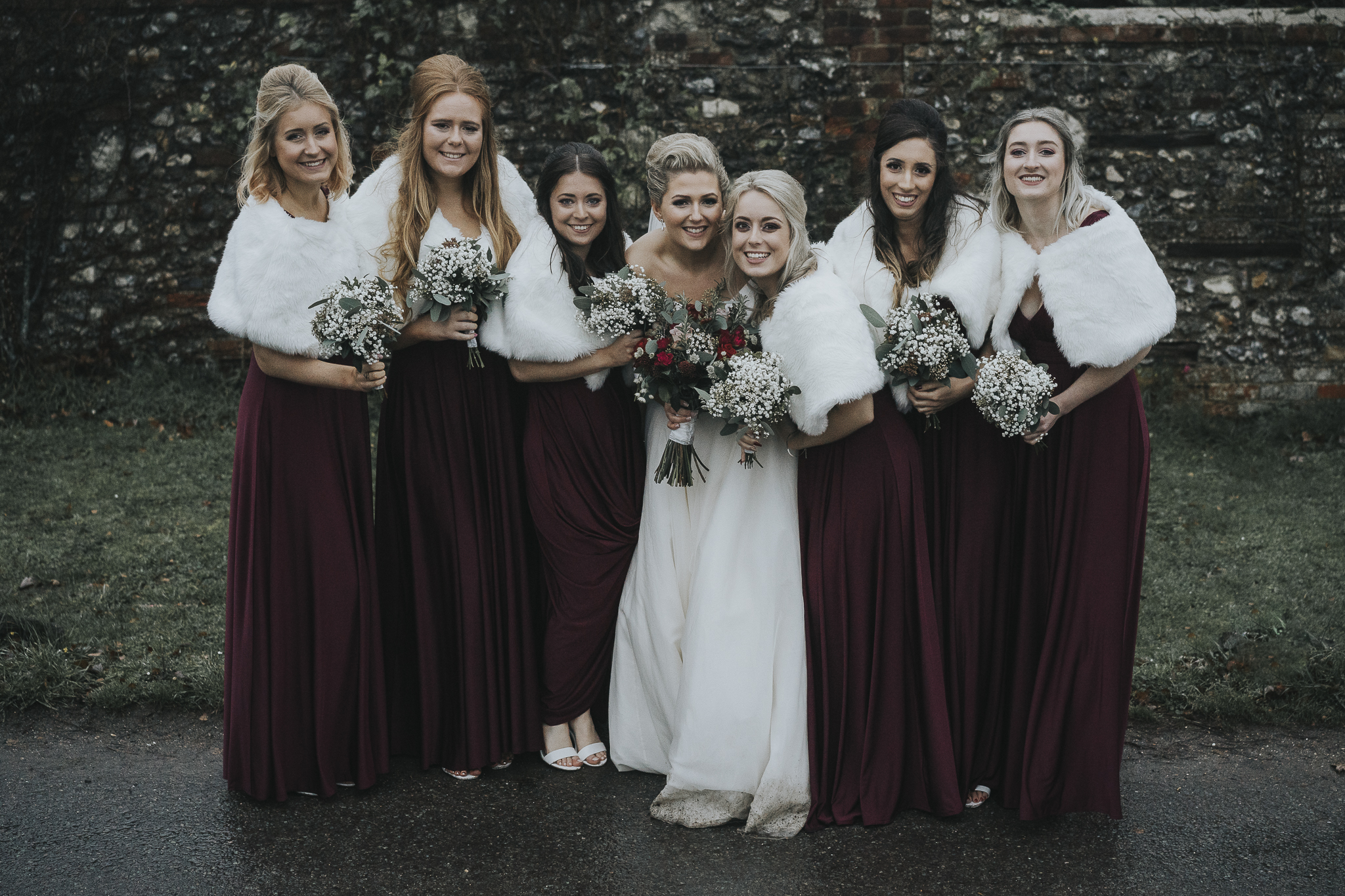 winter bridesmaids inspiration