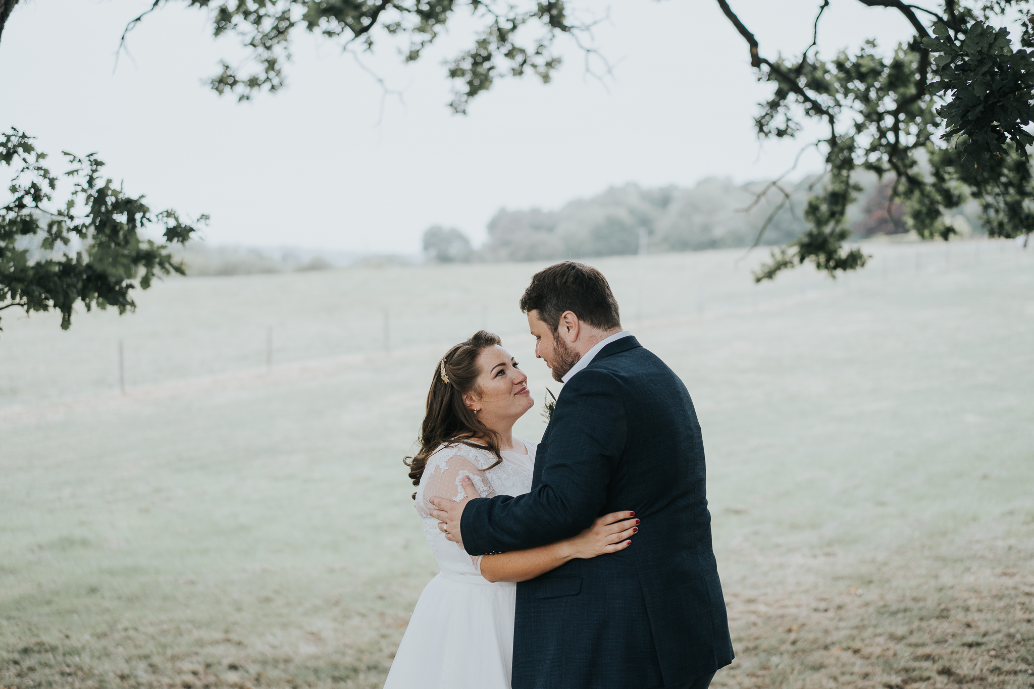 At Steph + Tony's wedding we made use of some trees and took advantage of the beautiful soft light the rain created