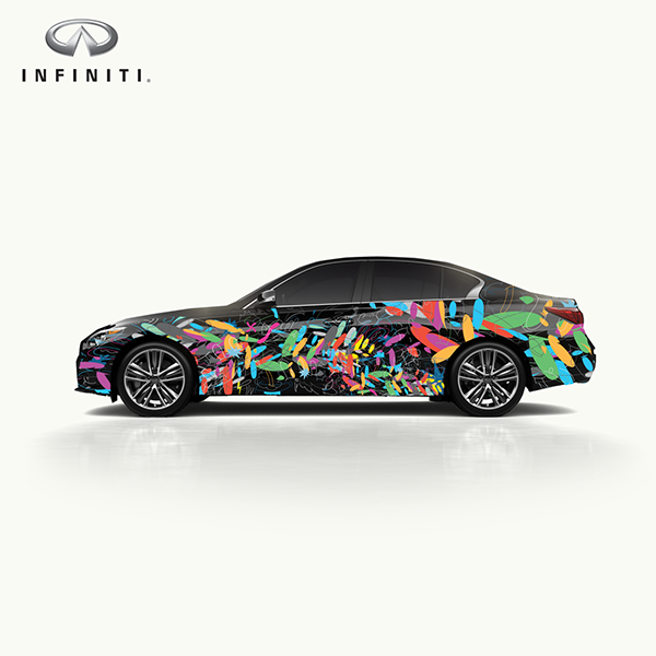 "Art Car Infiniti Q60 ""Best of Cleveland"""