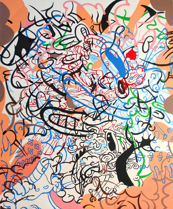Stephen Tompkins  Oblivweeus  Acrylic on Canvas 65 in. x 81 in. 2009  Price:  Inquire